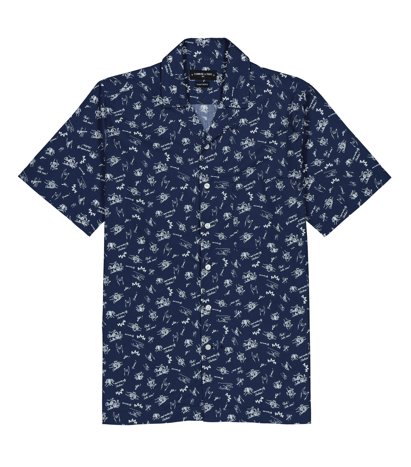 SHIRT HILO - Navy allover