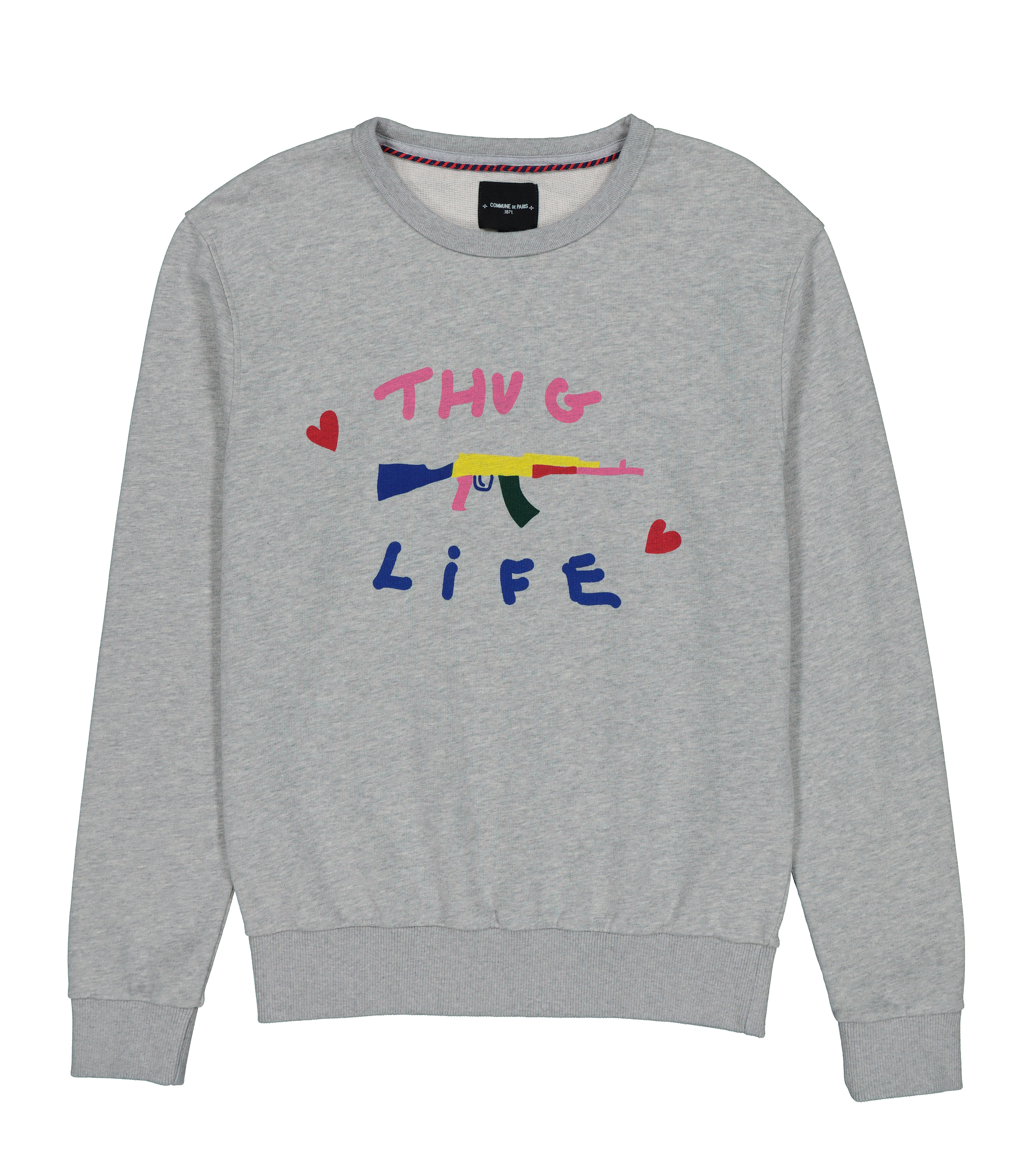 SWEAT LOVEGUN - Gris chine