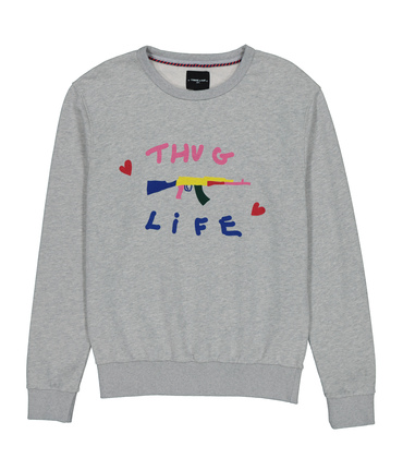 SWEAT LOVEGUN - Marl grey