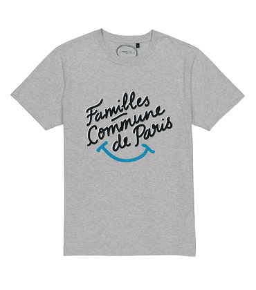 TEE FAMILLES SMILE - Gris chine