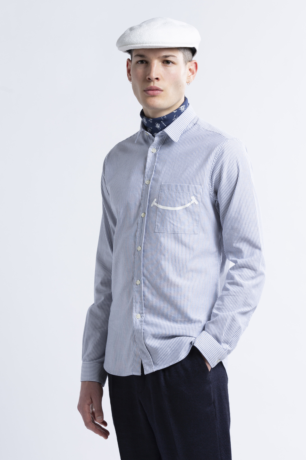SHIRT ROSSEL-GR - Blue stripes