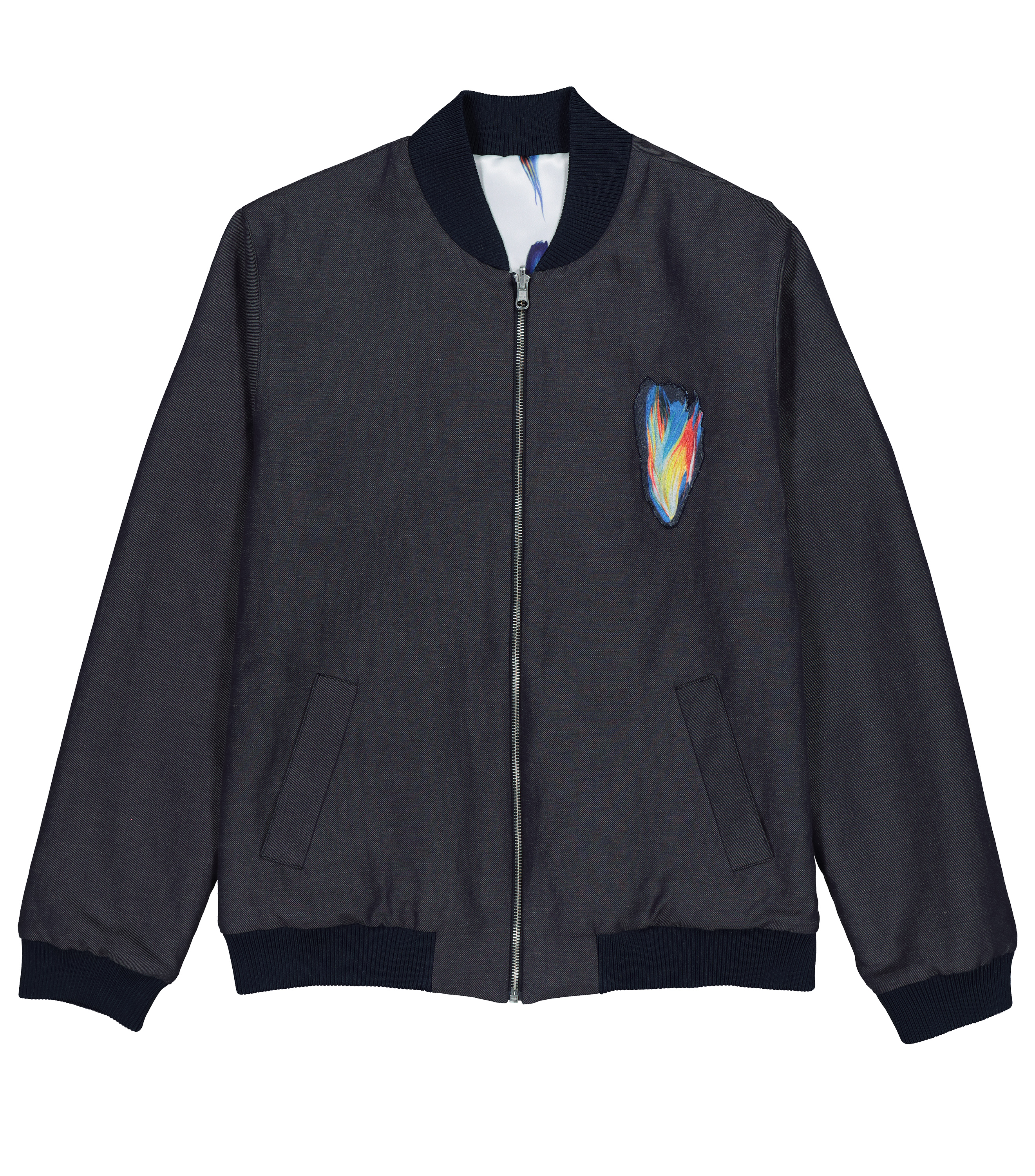 BOMBER JACKET ZALKO  - Marine/allover