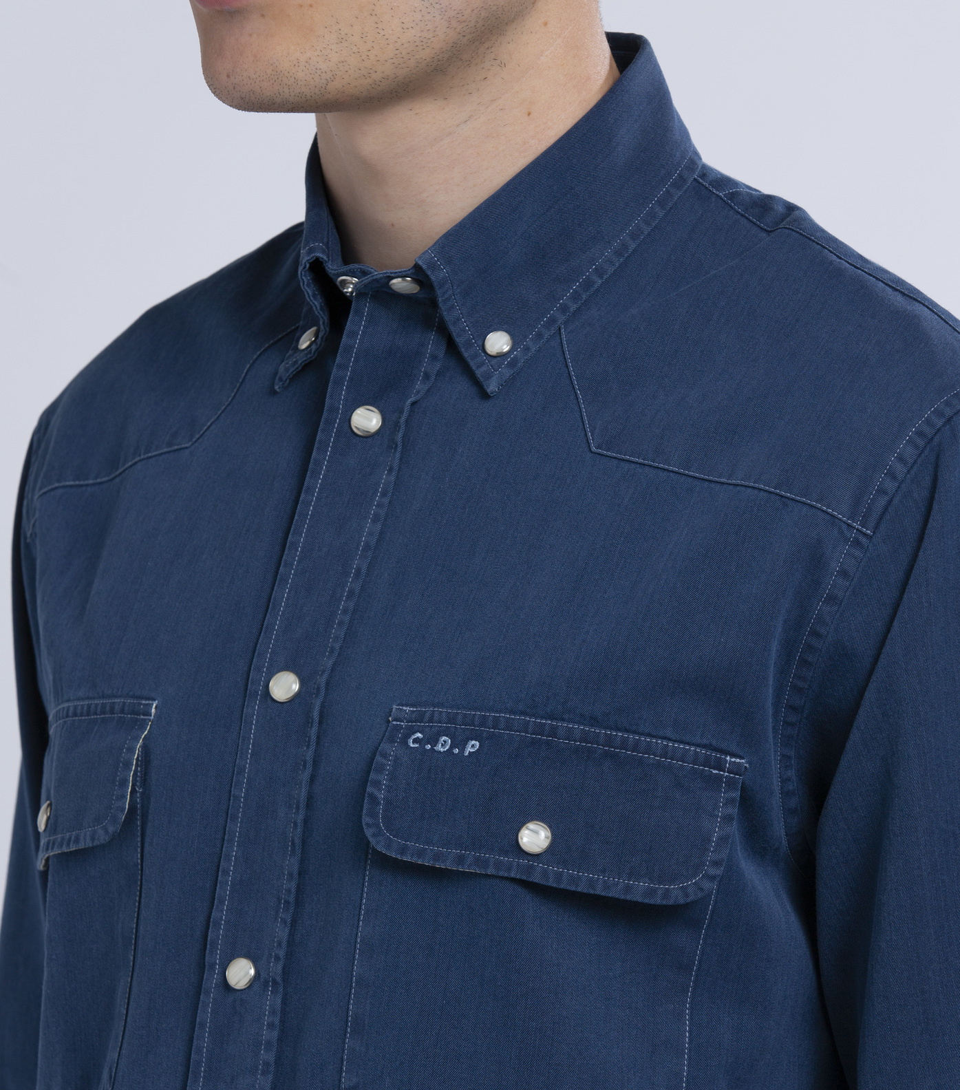 OVERSHIRT BLANQUI - Blue denim