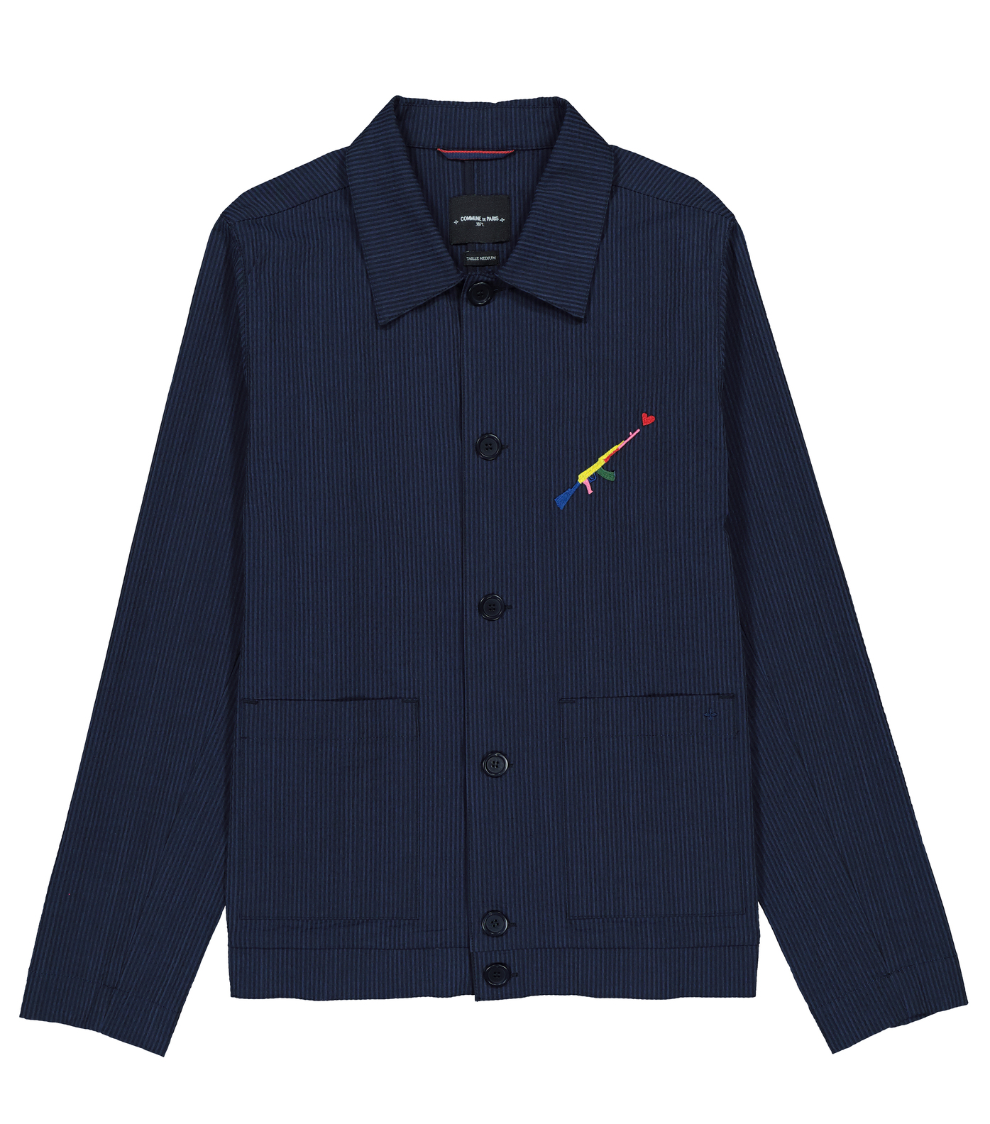 JACKET  CORTO  - Navy stripes