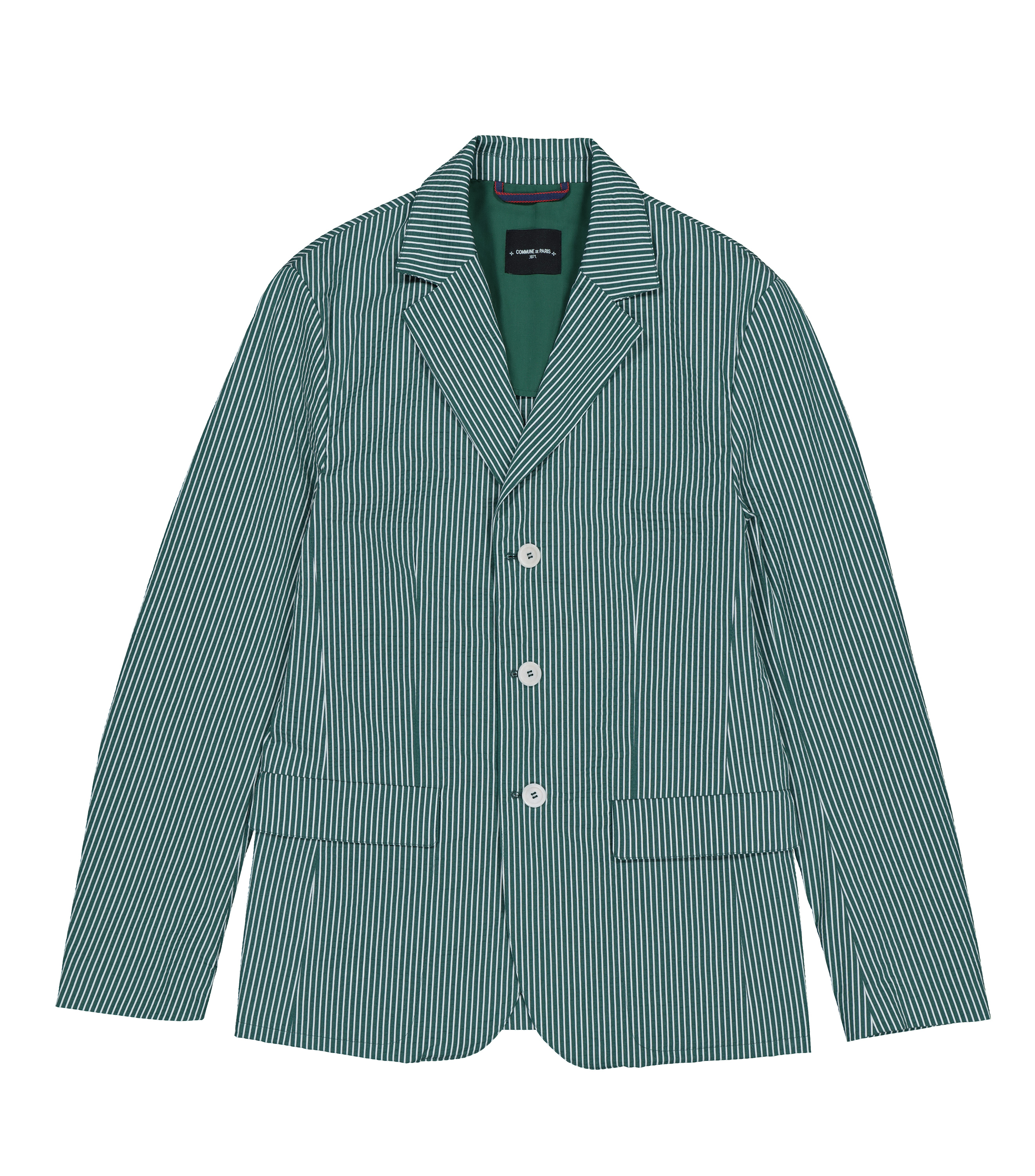 SUIT JACKET PROTOT - Green stripes