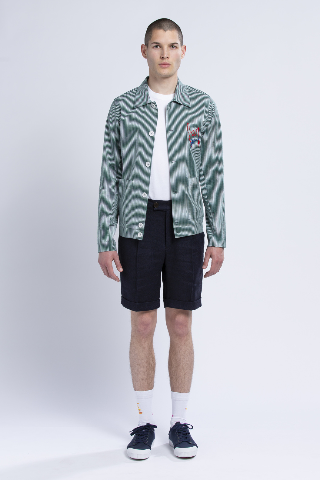 JACKET  CORTO  - Green stripes