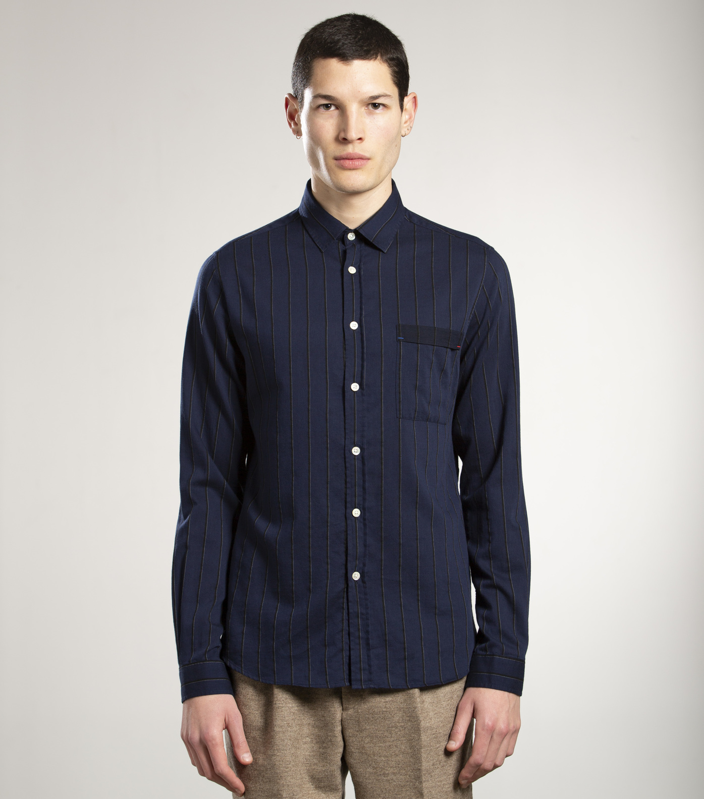 SHIRT ROSSEL - Navy stripes
