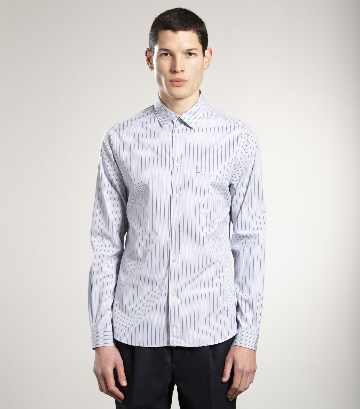 SHIRT ROSSEL - Grey stripes