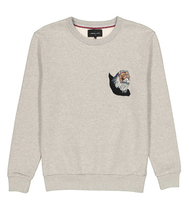 SWEAT LE LION - Gris chine