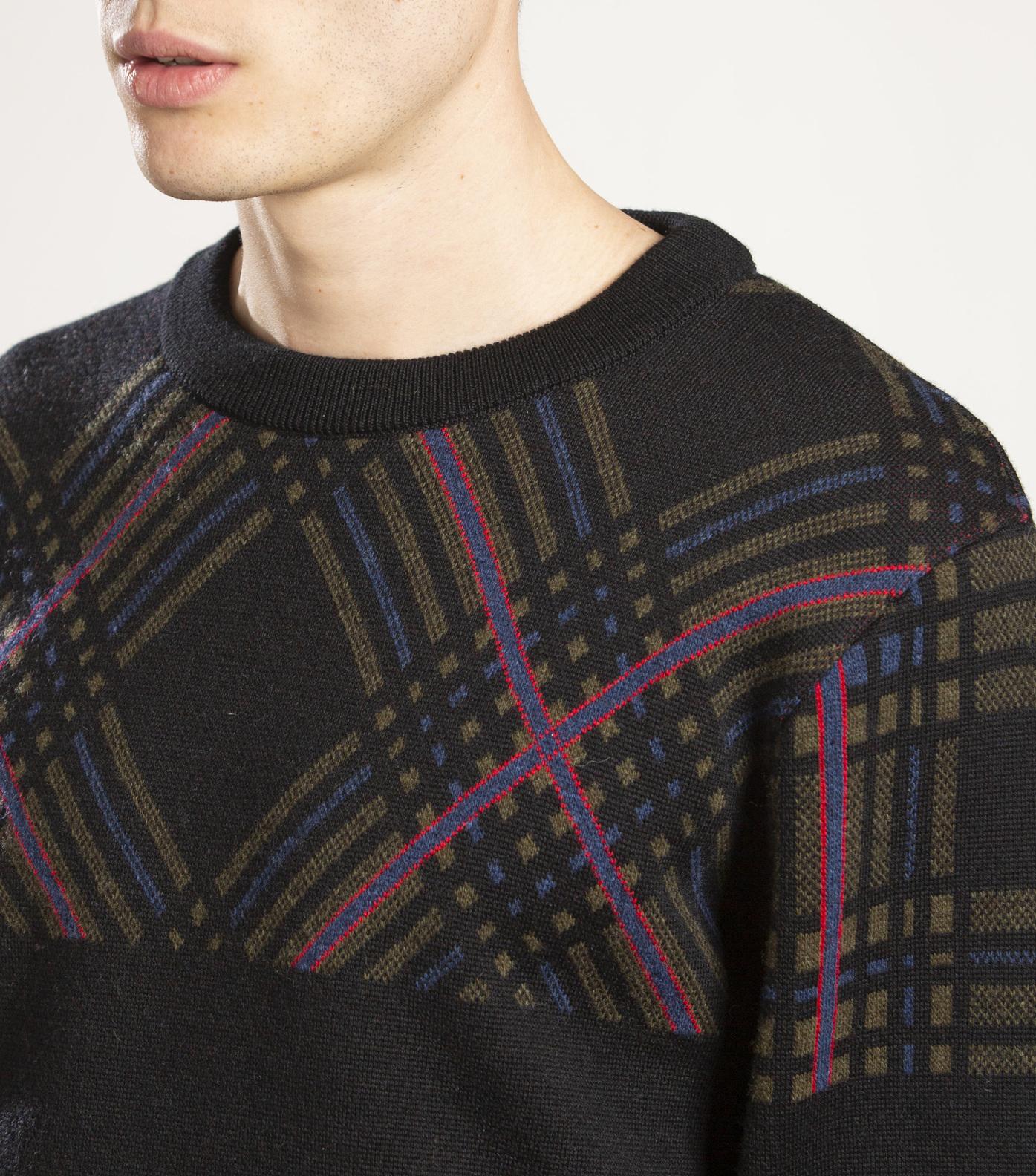 PULL ARLON - Khaki tartan
