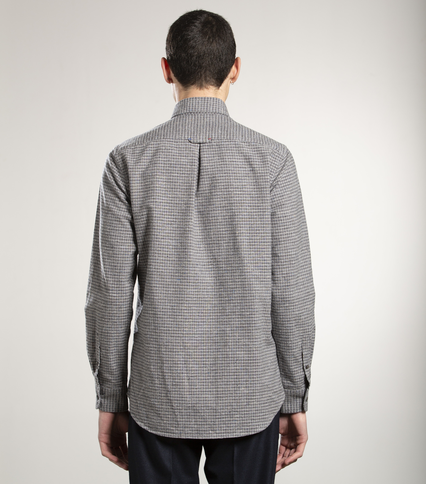 SHIRT EUDES-B - Grey checks
