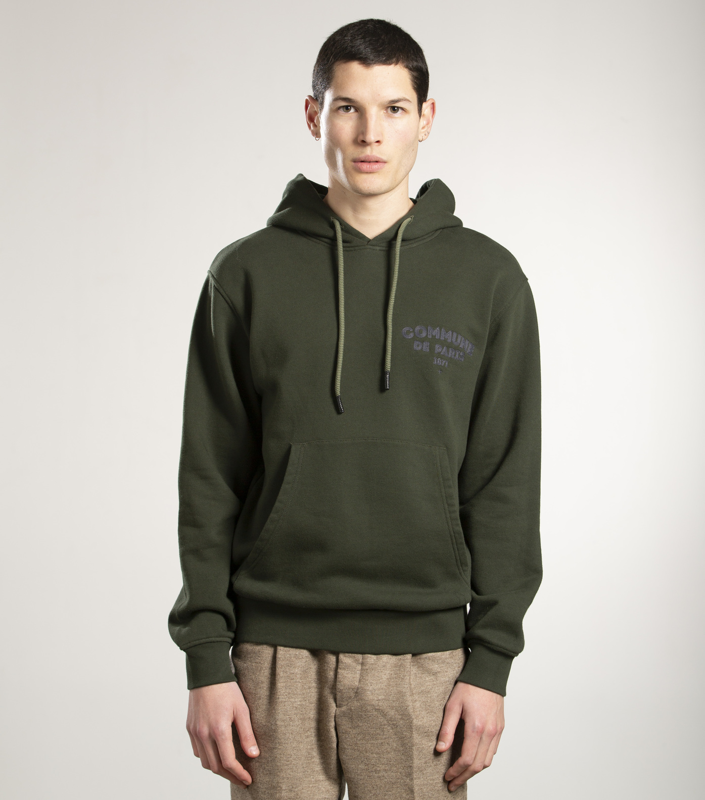 SWEAT A CAPUCHE ICI - Khaki