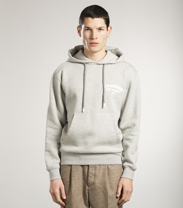 SWEAT A CAPUCHE ICI - Gris chine