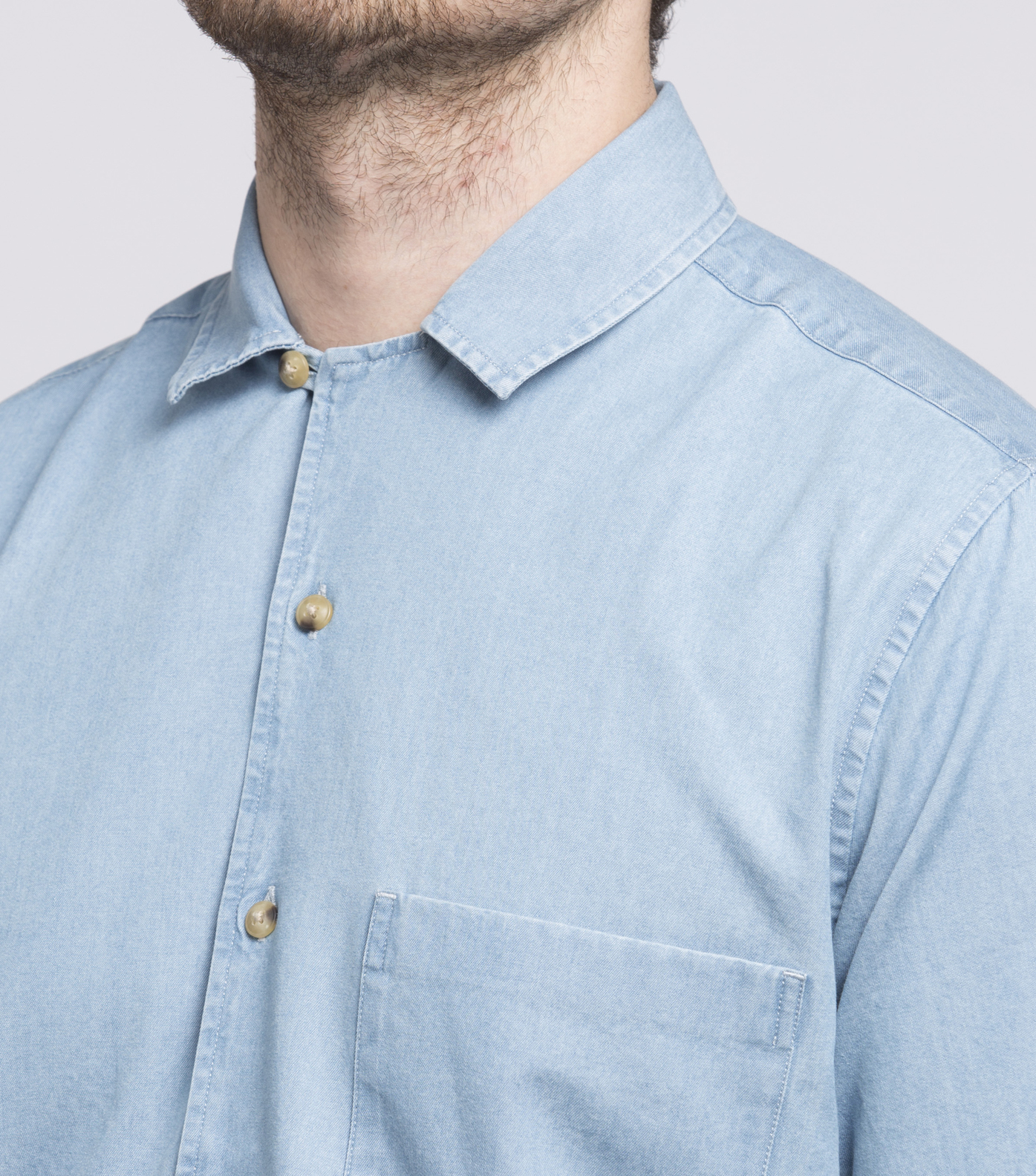 SHIRT  HILO-D - Bleached denim