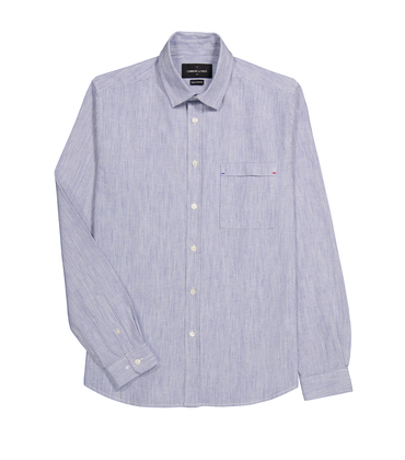 SHIRT ROSSEL19-CH - Blue stripes