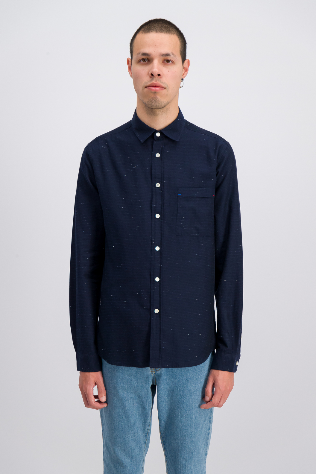 SHIRT ROSSEL19-NB - Navy bouton
