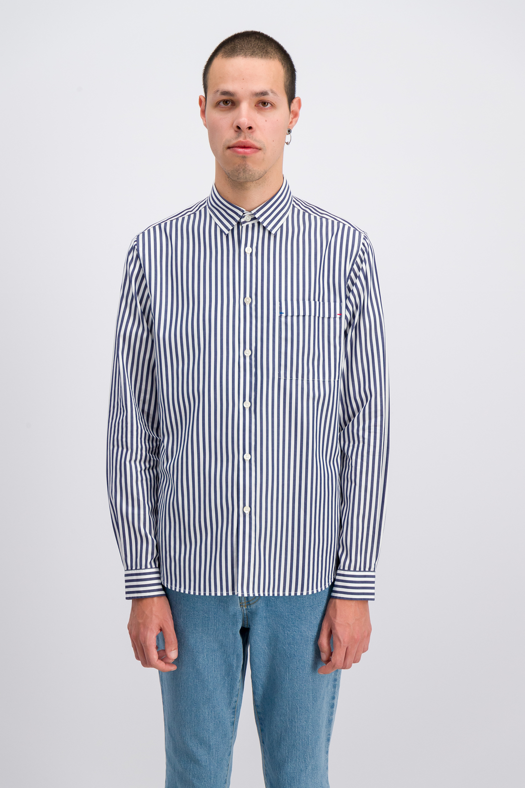 SHIRT ROSSEL19-ST - Navy stripes