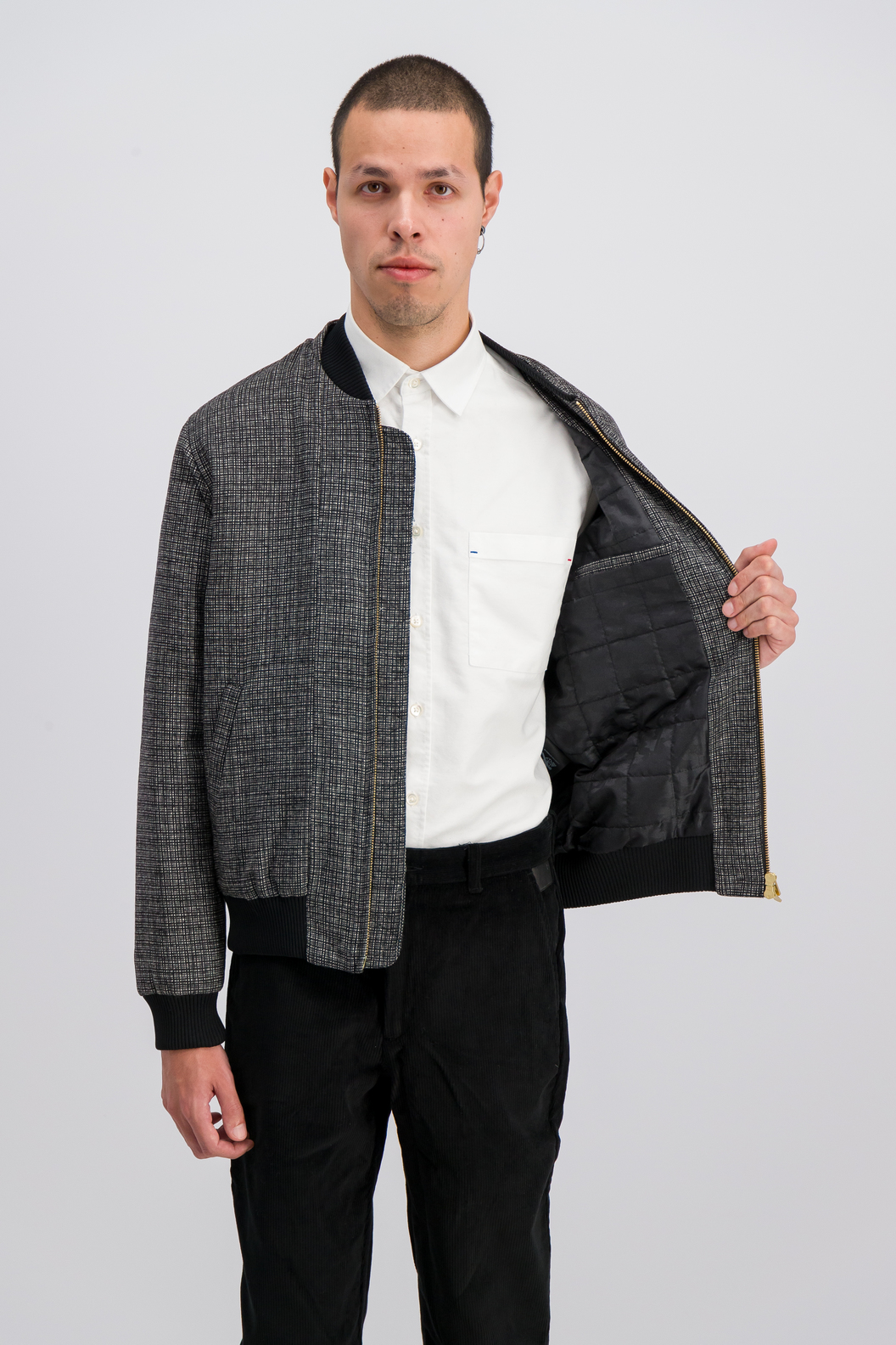JACKET ANATOLE19-BW - Black & white