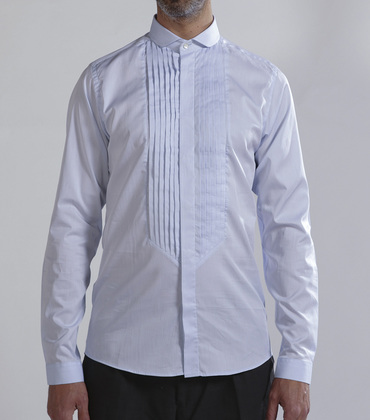 Shirt Longuet - Blue w/stripes