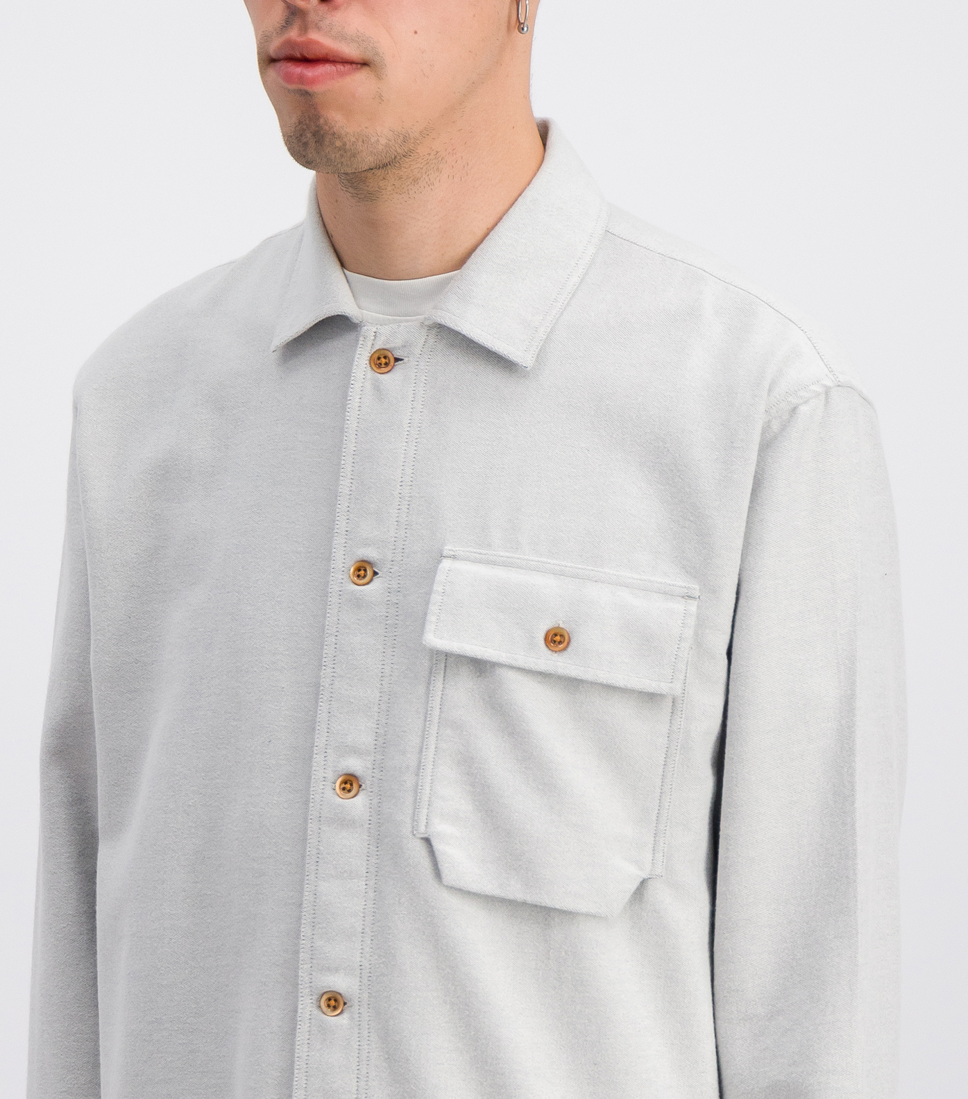 OVERSHIRT LEONCE19 - Grey