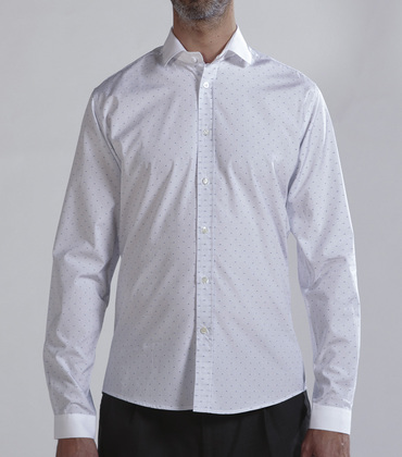 Shirt Cluseret - White w/dots
