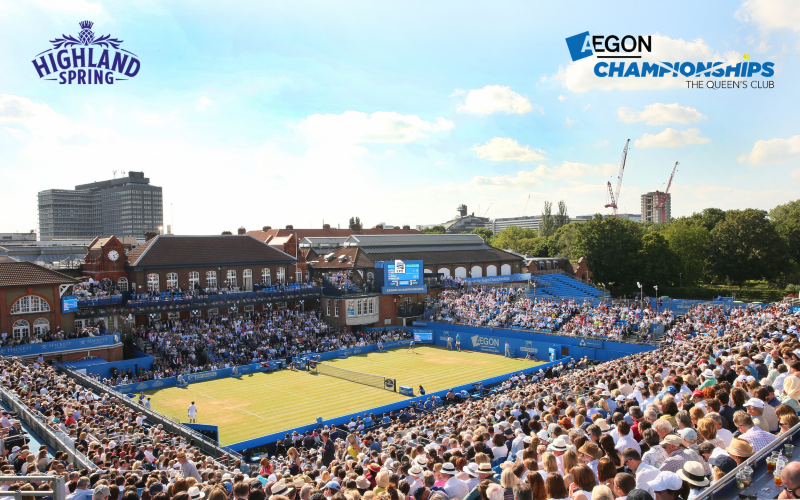 4 tickets to the Aegon Championships on Friday 23rd June at The Queen's Club, London