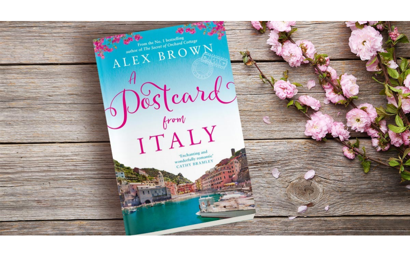 Signed copy of A Postcard from Italy by Alex Brown