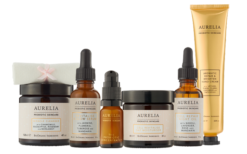 A selection of Aurelia Probiotic Skincare's best loved products, worth over £250