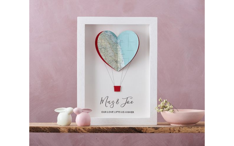 Personalised Map Hot Air Balloon Print