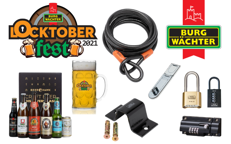 £125 home security bundle + authentic German beer + glass stein from Burg-Wächter