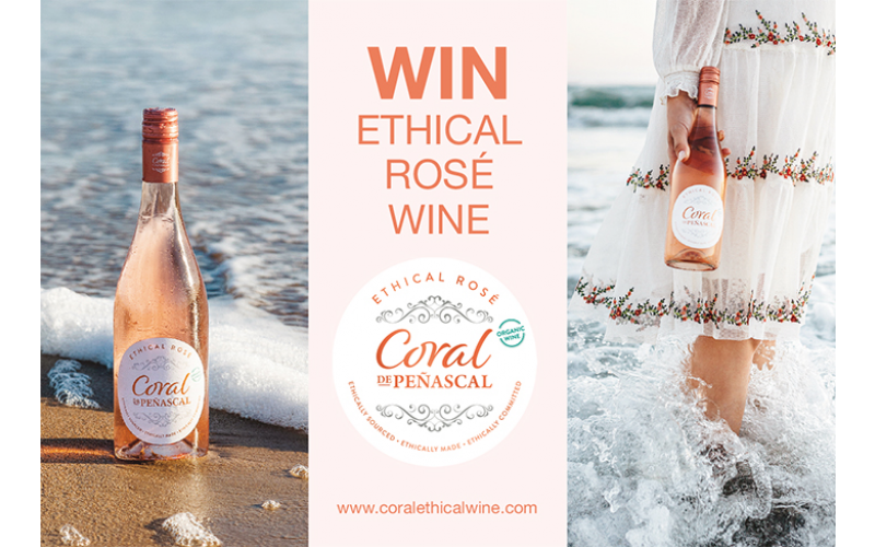 WIN TWO CASES OF CORAL ETHICAL ROSÉ WINE!
