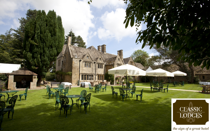 Prosecco afternoon tea, dinner, two nights bed and breakfast for two at Charingworth Manor