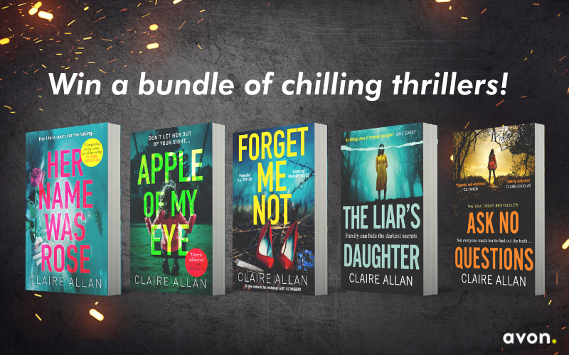 Win a bundle of chilling thrillers by Claire Allan