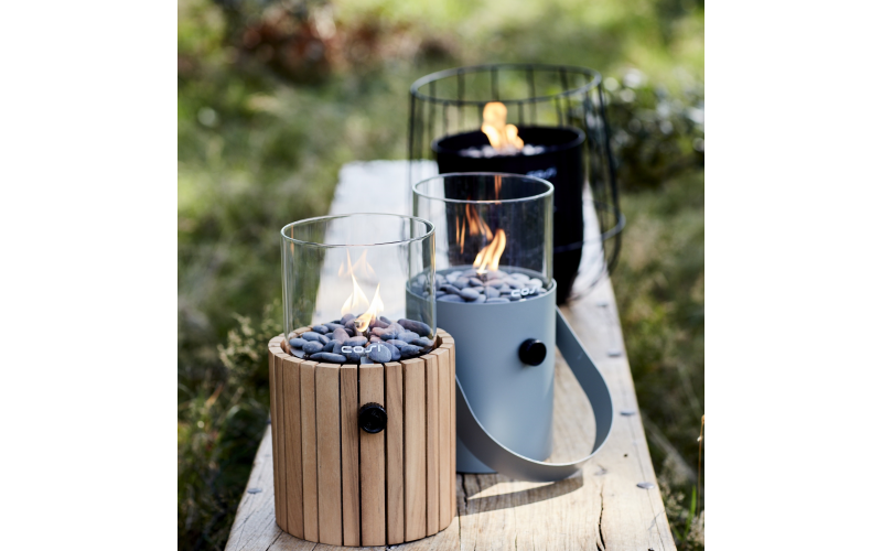 Cosiscoop Timber Fire Lantern £149.99, Cosiscoop Blue Fire Lantern £89.99, £50 Dobbies Gift Card