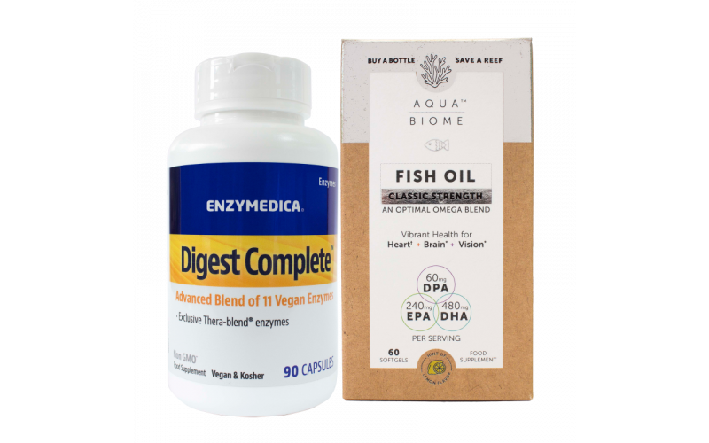 WIN a bottle of Digest Complete and Aqua Biome Fish Oil from Enzymedica UK