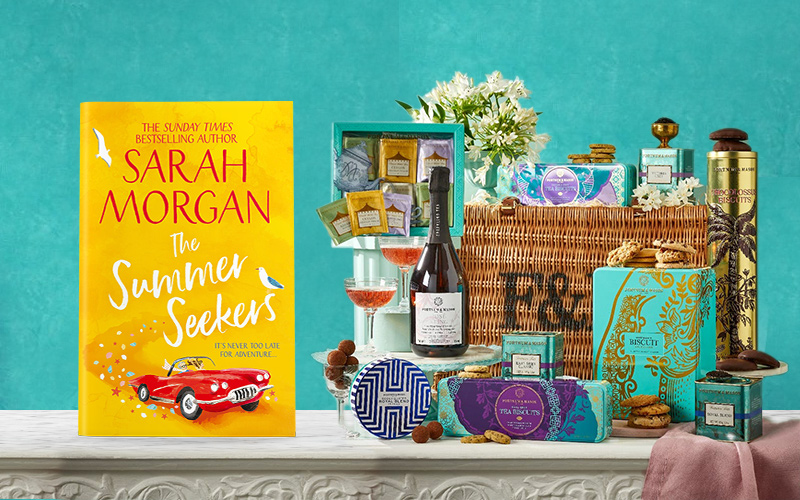 A Fortnum & Mason hamper and The Summer Seekers book