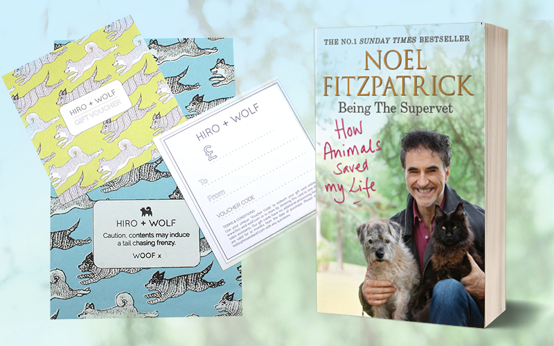 A copy of HOW ANIMALS SAVED MY LIFE paperback and a £175 voucher to Hiro + Wolf