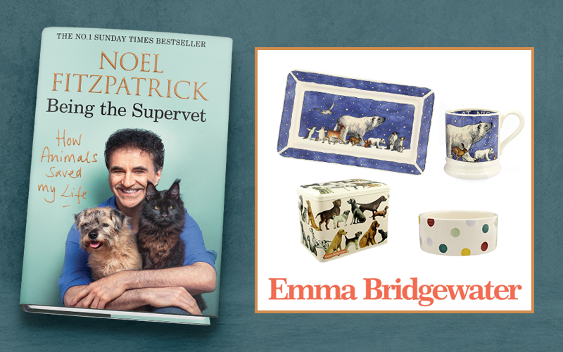 An Emma Bridgewater bundle and copy of HOW ANIMALS SAVED MY LIFE