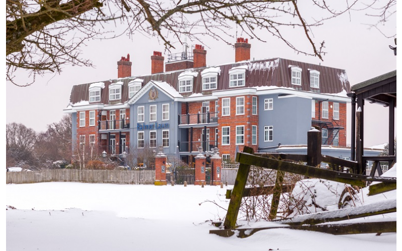 One night's Bed & Breakfast for two guests in a luxury balcony room at the Balmer Lawn Hotel, Brockenhurst, New Forest. With 2 x one-hour spa treatments (one pe
