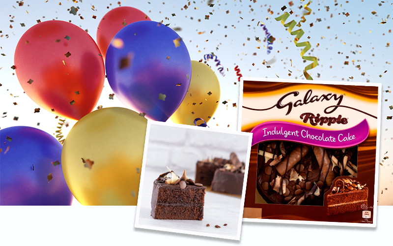 £250 Shopping Voucher and New Galaxy® Ripple® Celebration Cake
