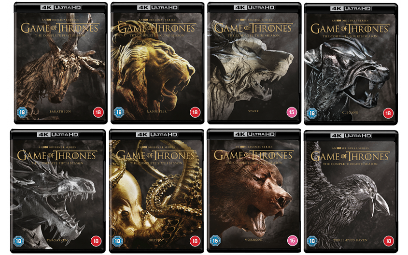 Game of Thrones Seasons 1-8 4K Ultra HD Complete Set