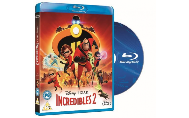 A SMART TV, BLU-RAY™ PLAYER AND COPY OF INCREDIBLES 2 ON BLU-RAY™