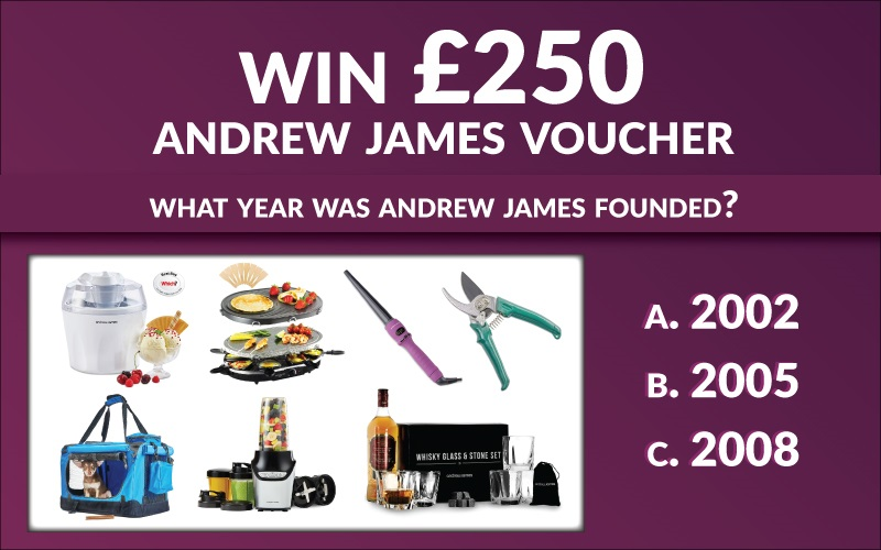 Andrew James £250 Voucher