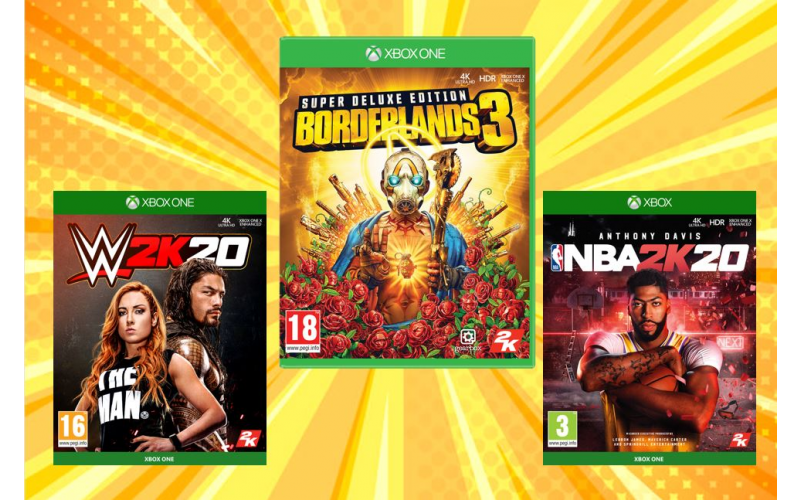Borderlands 3, NBA 2K20 and WWE 2K20 for Xbox One