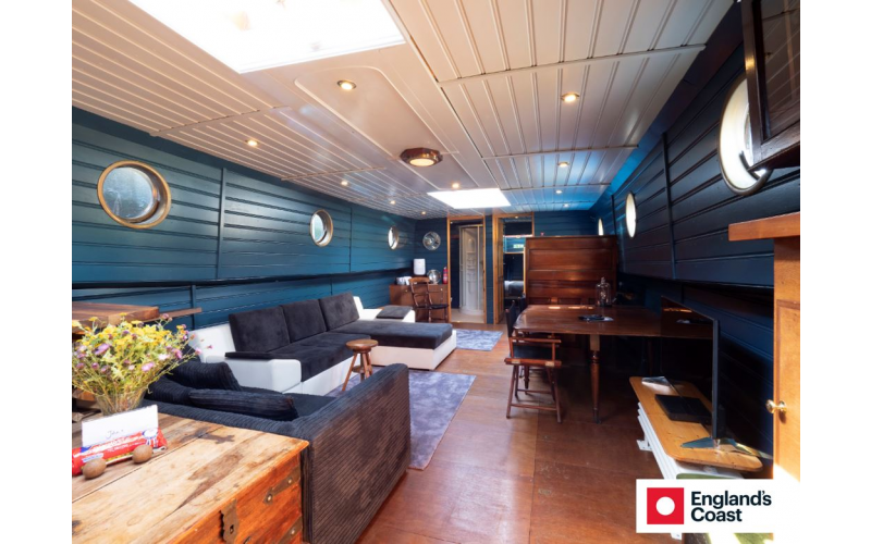 A one-night stay for six people on a converted Dutch Barge in Kent worth £250