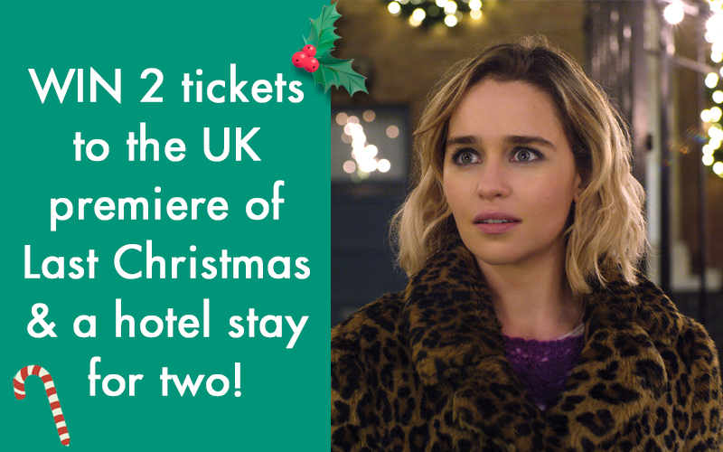 Two tickets to the UK film premiere of Last Christmas, starring Emilia Clarke, Emma Thompson and Henry Golding, PLUS a stay for two at a top London hotel!