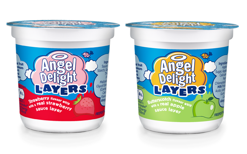 A hamper of NEW Angel Delight Layers Pots & family bowling voucher