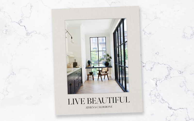 A copy of Live Beautiful from Abrams & Chronicle Books