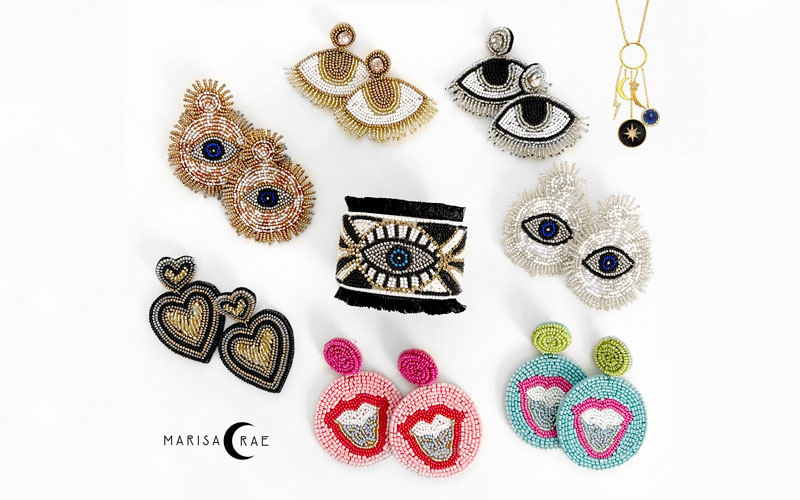 Nine pieces of jewelry from the Marisa Rae Collection