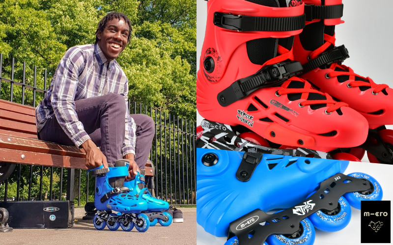 A pair of MT PLUS skates from the Microskaters Urban Range